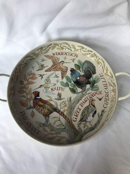Game Birds Large Deep Handled Tray